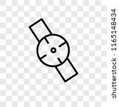 smartwatch vector icon isolated ... | Shutterstock .eps vector #1165148434