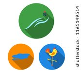 different weather flat icons in ... | Shutterstock .eps vector #1165149514