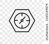clocks vector icon isolated on... | Shutterstock .eps vector #1165149874