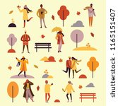vector illustration in flat... | Shutterstock .eps vector #1165151407