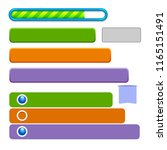 vector set of colorful long...