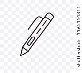 pen vector icon isolated on... | Shutterstock .eps vector #1165154311