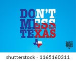 don't mess with texas logo... | Shutterstock .eps vector #1165160311