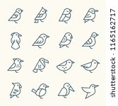 birds line icons | Shutterstock .eps vector #1165162717