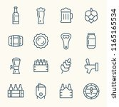 brewing line icons | Shutterstock .eps vector #1165165534