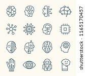 artificial intelligence line... | Shutterstock .eps vector #1165170457