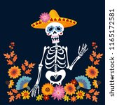 dia de los muertos greeting... | Shutterstock .eps vector #1165172581