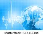 image of heart beat against... | Shutterstock . vector #116518105