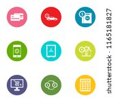 conservation icons set. flat...   Shutterstock .eps vector #1165181827