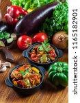 ratatouille  delicious... | Shutterstock . vector #1165182901