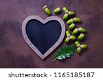 autumn mood chalkboard and... | Shutterstock . vector #1165185187