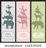 bookmarks with animal... | Shutterstock .eps vector #116519335
