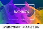 rainbow fluid background.... | Shutterstock .eps vector #1165196107