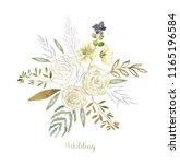 watercolor art with fresh...   Shutterstock . vector #1165196584