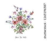 watercolor art with fresh field ...   Shutterstock . vector #1165196587
