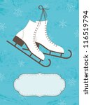 retro christmas card with ice... | Shutterstock .eps vector #116519794