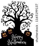 happy halloween composition...   Shutterstock .eps vector #1165199137