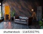 Unusual Loft Interior. Leather...