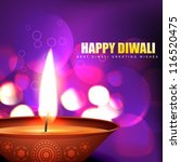 diwali diya vector background... | Shutterstock .eps vector #116520475