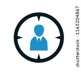 target audience icon | Shutterstock .eps vector #1165204867