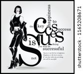 success quote with fashion... | Shutterstock .eps vector #1165208671