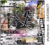 amsterdam  nederland. vintage... | Shutterstock . vector #1165208677