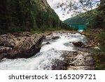 fast water stream in wild... | Shutterstock . vector #1165209721