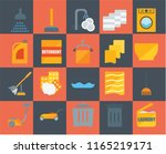 set of 20 icons such as laundry ... | Shutterstock .eps vector #1165219171