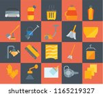 set of 20 icons such as rag ... | Shutterstock .eps vector #1165219327
