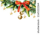 christmas card with christmas... | Shutterstock . vector #1165222264