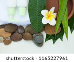 spa or wellness background with ...   Shutterstock . vector #1165227961