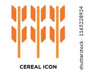 cereal icon vector isolated on... | Shutterstock .eps vector #1165228924