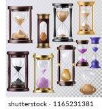 sandglass vector glass clock... | Shutterstock .eps vector #1165231381