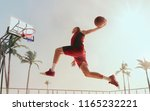 streetball. basketball player...   Shutterstock . vector #1165232221