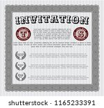 grey invitation template. with... | Shutterstock .eps vector #1165233391
