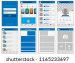social network mock up  post... | Shutterstock .eps vector #1165233697