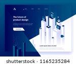 modern isometric vector... | Shutterstock .eps vector #1165235284