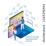 development of software and... | Shutterstock .eps vector #1165240441