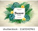 sale. square summer sale... | Shutterstock . vector #1165242961