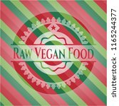 raw vegan food christmas colors ... | Shutterstock .eps vector #1165244377