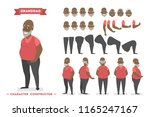 handsome elderly african... | Shutterstock .eps vector #1165247167