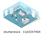 veterinary clinic examination... | Shutterstock .eps vector #1165247404