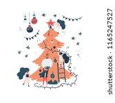 xmas card illustration. vector... | Shutterstock .eps vector #1165247527
