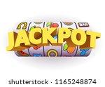 golden slot machine wins the... | Shutterstock .eps vector #1165248874