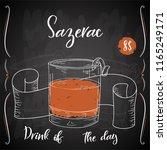 alcoholc cocktail sazerac.... | Shutterstock .eps vector #1165249171