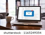 mail communication connection... | Shutterstock . vector #1165249354