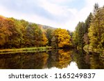 lake and trees at the autumn... | Shutterstock . vector #1165249837