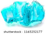 ice blue homemade jelly cut on... | Shutterstock . vector #1165252177