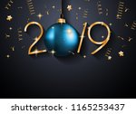 2019 happy new year background... | Shutterstock .eps vector #1165253437