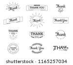 thank you sign. vector... | Shutterstock .eps vector #1165257034